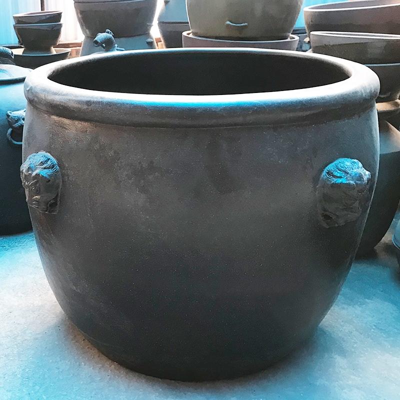 黑陶景觀缸 土陶工藝品